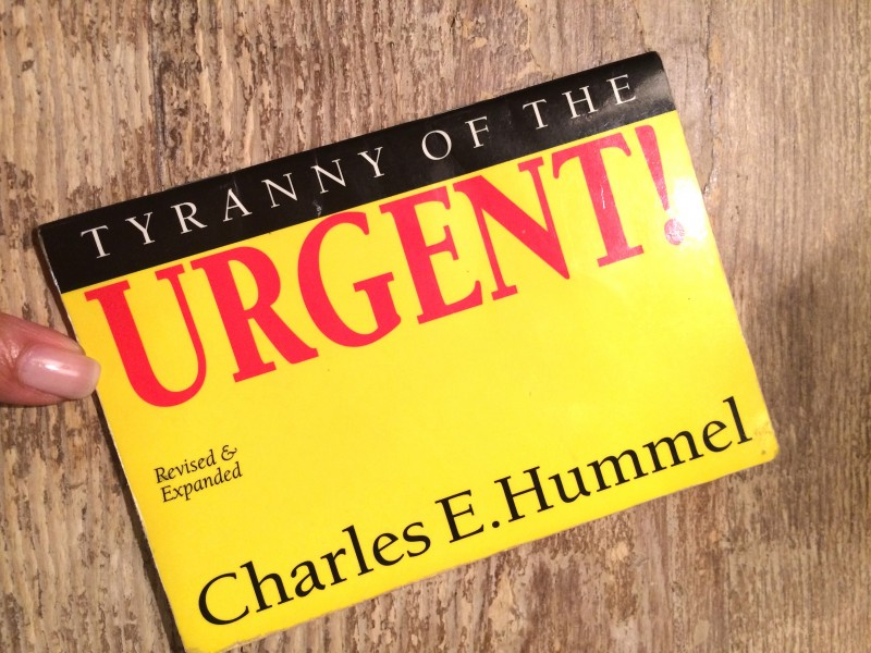 The Tyranny Of The Urgent Going Beyond Ministries