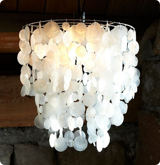 wax shells chandelier