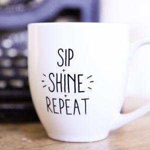 AWAKEN Mug - Sip Shine Repeat 1